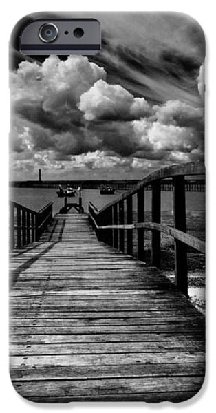Wharf at Southend on Sea iPhone Case by Sheila Smart