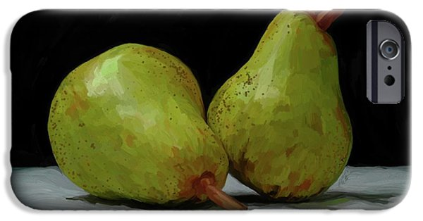 Pear iPhone Cases - What a Pair iPhone Case by Patti Siehien