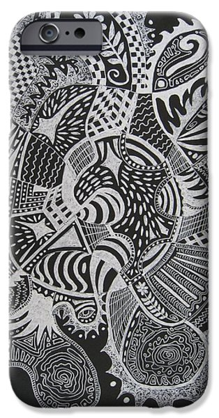Stellar Drawings iPhone Cases - What Next iPhone Case by Yvonne Blasy