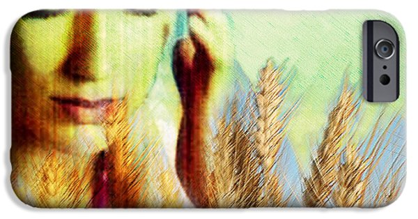 Intolerance iPhone Cases - Wheat Allergy iPhone Case by Hannah Gal