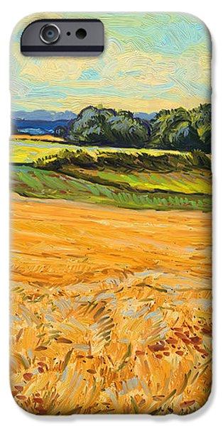 Wheat field in Limburg iPhone Case by Nop Briex