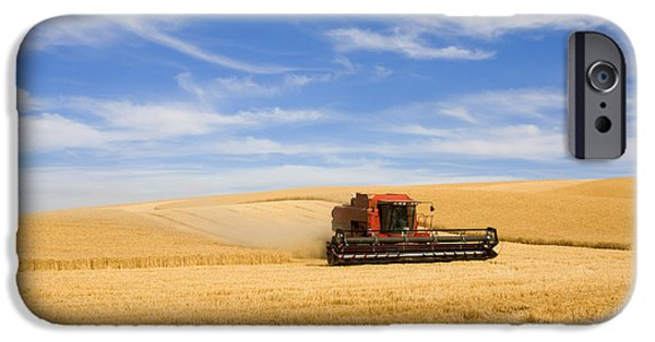 Rural iPhone Cases - Wheat Harvest iPhone Case by Mike  Dawson
