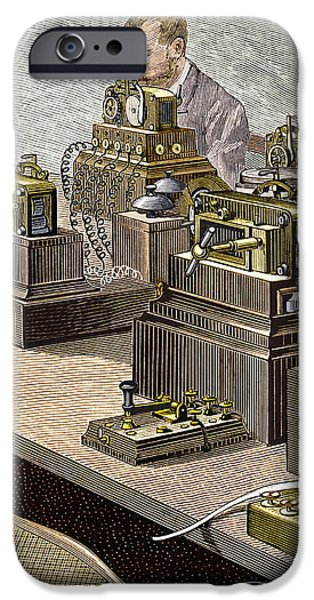 Wheatstone Telegraph System iPhone Case by Sheila Terry