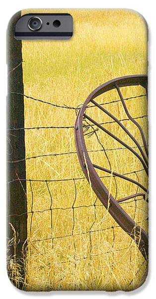 Wheel looking for a Tractor iPhone Case by Rich Franco