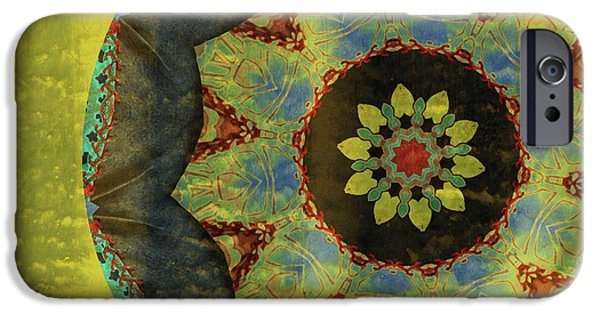 Abstract Digital Art Mixed Media iPhone Cases - Wheel of Time iPhone Case by Bonnie Bruno