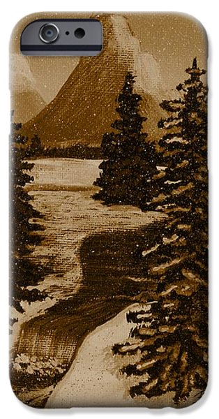 When it Snowed in the Mountains iPhone Case by Barbara Griffin