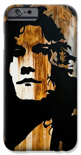 Robert Plant Paintings iPhone Cases - When movin through Kashmir  iPhone Case by Brad Jensen