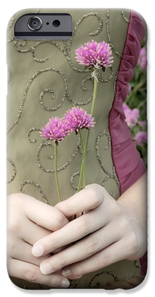 Innocence Mixed Media iPhone Cases - Where Have All The Flowers Gone iPhone Case by Angelina Vick