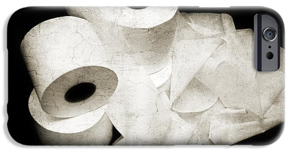 Ply iPhone Cases - Where Is My Spare Roll HC V3 iPhone Case by Andee Design