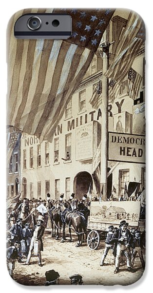Election iPhone Cases - Whig Party Parade, 1840 iPhone Case by Granger