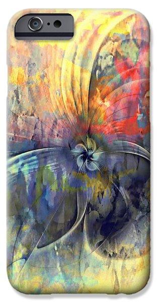Floral Digital Art Digital Art iPhone Cases - Whimsical iPhone Case by Amanda Moore