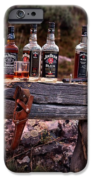 Whiskey and guns iPhone Case by Leland D Howard