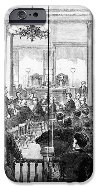 WHISKEY RING TRIAL, 1876 iPhone Case by Granger