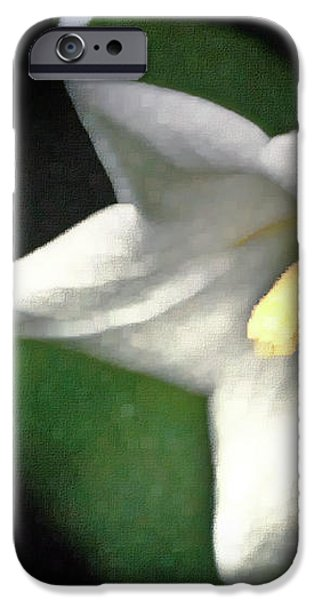 White Balloon Flower-Faux Painting iPhone Case by  onyonet  photo studios