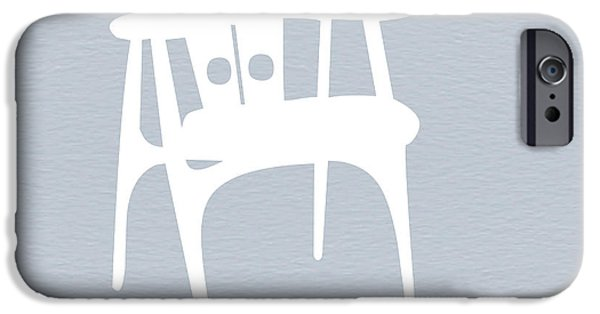 Furniture Photographs iPhone Cases - White Chair iPhone Case by Naxart Studio