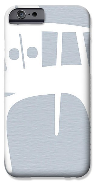 White Chair iPhone Case by Naxart Studio