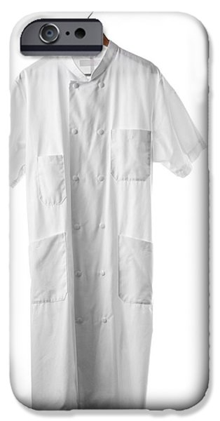 Coat Hanger iPhone Cases - White Coat iPhone Case by Arno Massee