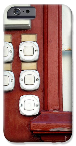 Bell iPhone Cases - White Doorbells iPhone Case by Carlos Caetano