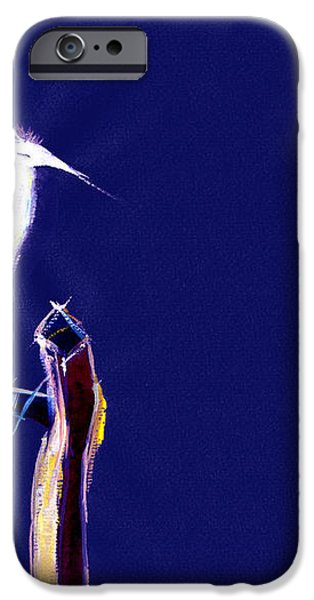 White Egret iPhone Case by Anil Nene