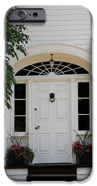 White Entrance Door iPhone Case by Christiane Schulze Art And Photography
