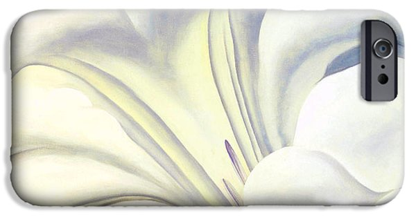 Nature Divine iPhone Cases - White Flower 10 iPhone Case by Sumit Mehndiratta