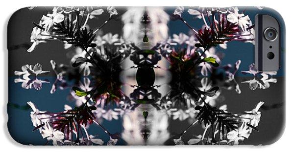 Surrealism Digital iPhone Cases - White Flowers iPhone Case by Sumit Mehndiratta