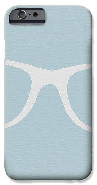 White Glasses iPhone Case by Naxart Studio
