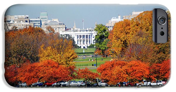 Recently Sold -  - Michelle Obama iPhone Cases - White House Foliage iPhone Case by Jost Houk