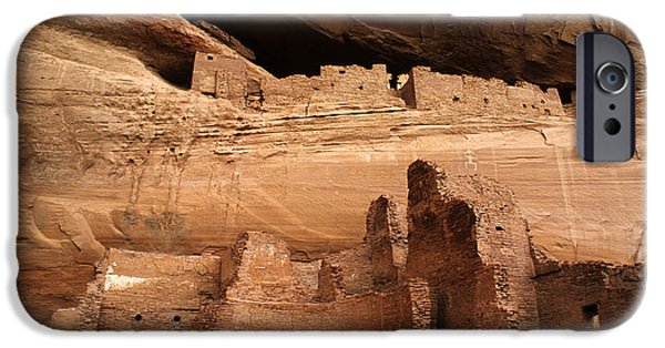 White House iPhone Cases - White House Ruin Canyon De Chelly iPhone Case by Bob Christopher