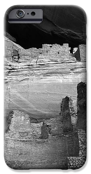 White House Ruin Canyon De Chelly Monochrome iPhone Case by Bob Christopher