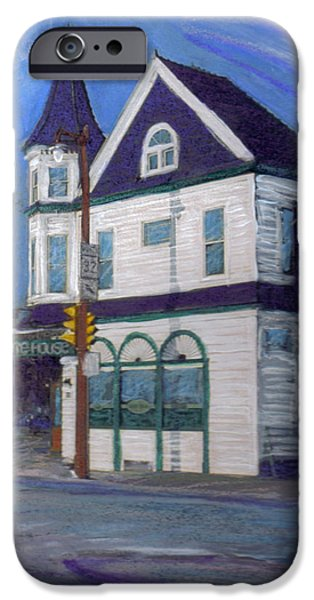 White House Mixed Media iPhone Cases - White House Tavern iPhone Case by Anita Burgermeister