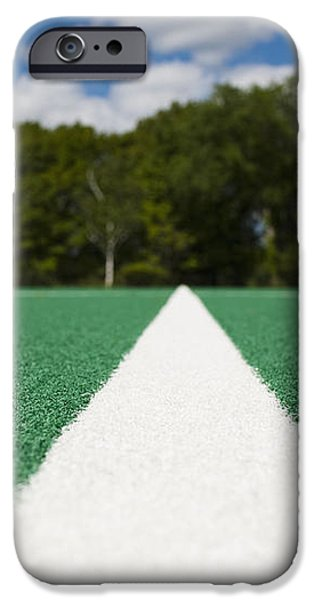 White Line on an Athletic Field iPhone Case by sam bloomberg-rissman