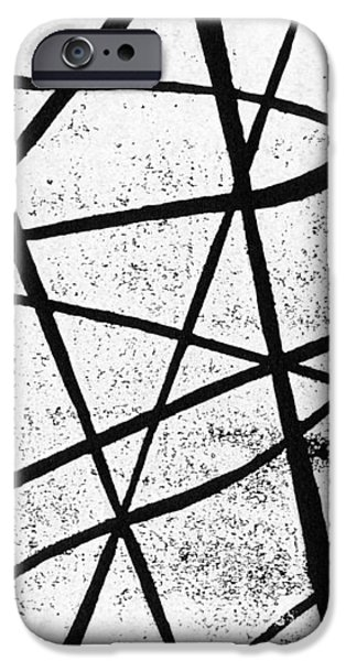 White on Black iPhone Case by Hakon Soreide