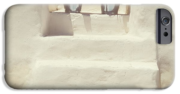 House iPhone Cases - White Steps iPhone Case by Joana Kruse