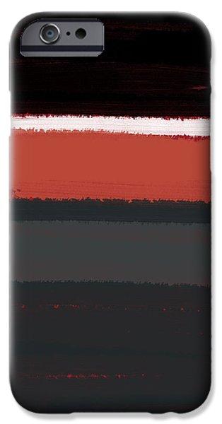 White Stripe iPhone Case by Naxart Studio
