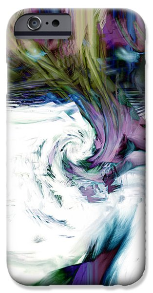 Abstract Digital iPhone Cases - Why iPhone Case by Linda Sannuti