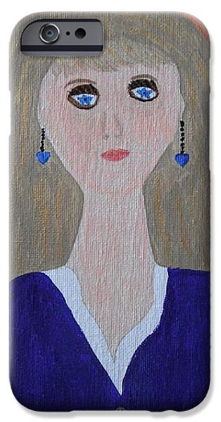 Must Art Paintings iPhone Cases - Why Must I Be a Teenager in Love iPhone Case by Jeannie Atwater Jordan Allen