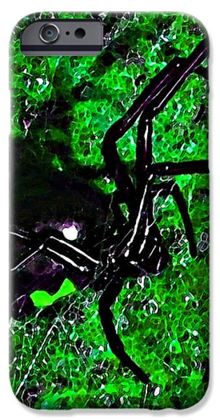 Wicked Widow - Green iPhone Case by Al Powell Photography USA