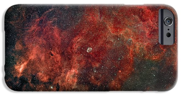 Constellations iPhone Cases - Widefield View Of He Crescent Nebula iPhone Case by Rolf Geissinger