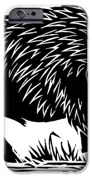 Wild Boar, Woodcut iPhone Case by Gary Hincks
