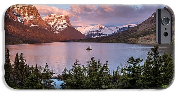 Glacier iPhone Cases - Wild Goose Island Morning 1 iPhone Case by Greg Nyquist