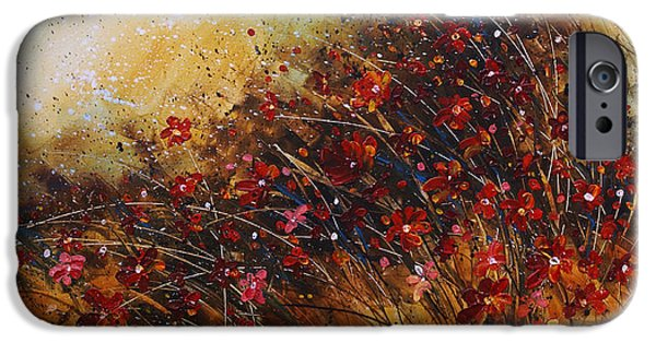 Pallet Knife iPhone Cases - Wild iPhone Case by Michael Lang