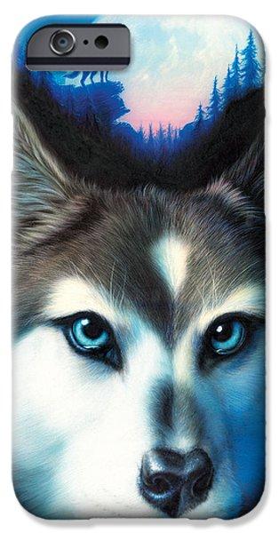 Animal Portraits iPhone Cases - Wild One iPhone Case by Andrew Farley