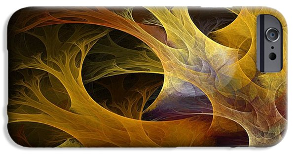 Abstract Digital Art iPhone Cases - Wild Trees iPhone Case by Lourry Legarde