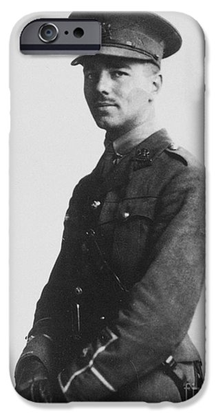 1916 Photographs iPhone Cases - Wilfred Owen (1893-1918) iPhone Case by Granger