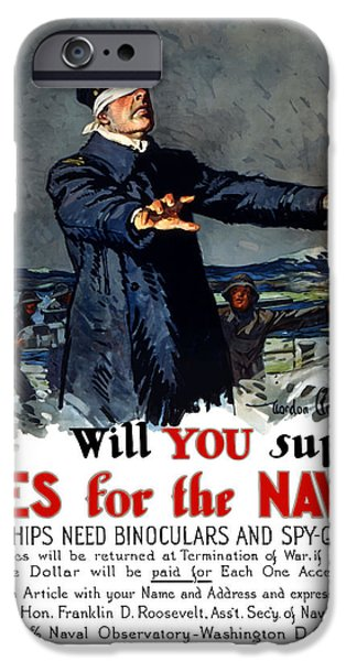 Ww1 iPhone Cases - Will You Supply Eyes For The Navy iPhone Case by War Is Hell Store