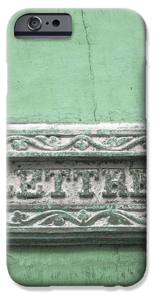 Will You Write - Jade green letter box iPhone Case by Nomad Art And  Design