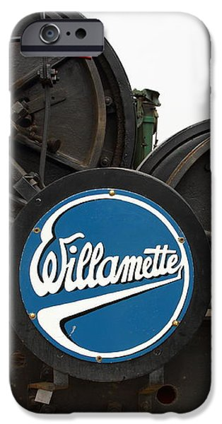 Willamette Steam Engine 7d15104 iPhone Case by Wingsdomain Art and Photography