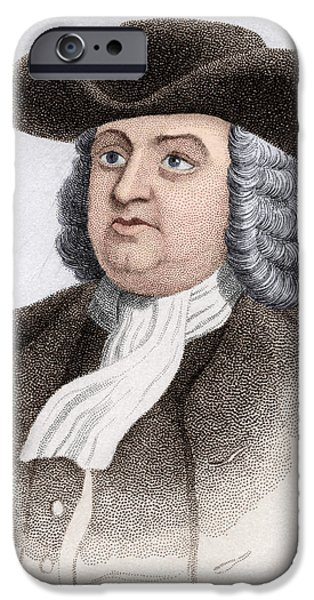 William Penn, English Coloniser iPhone Case by Sheila Terry