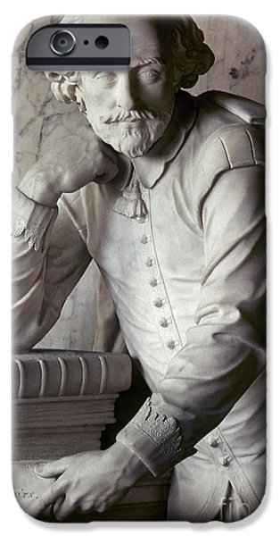 Statue Portrait iPhone Cases - William Shakespeare iPhone Case by Granger